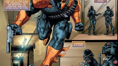 batman recruits deathstroke (injustice gods among us)