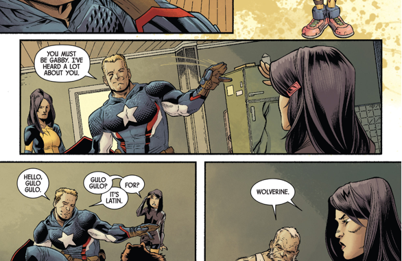 Gabrielle's First Meeting With Captain America