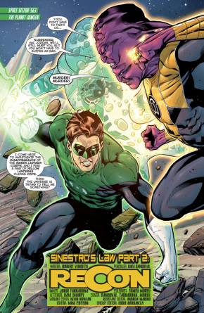 Green Lantern Hal Jordan VS Maash And Slushh