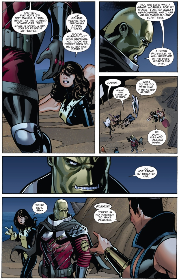 kruun confronts the x-men