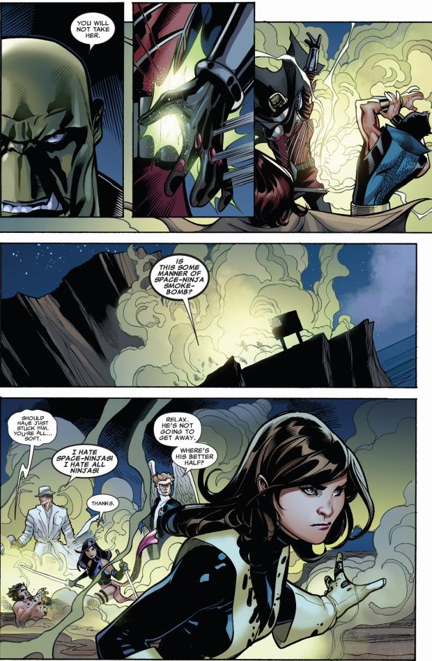 kruun confronts the x-men