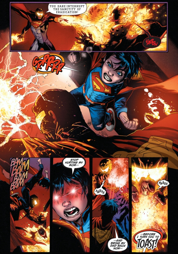 lois lane wears the hellbat against the eradicator