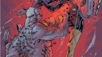 Old Man Logan Stabs Gabrielle
