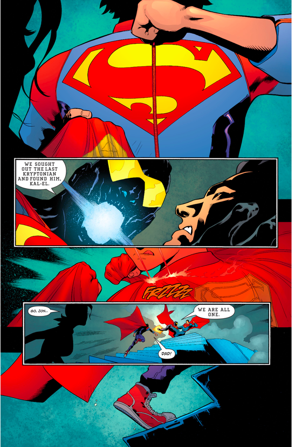 Superman And Son VS The Eradicator (Rebirth)