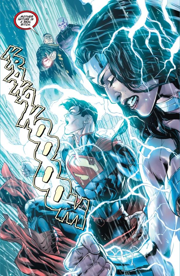 Superman And Wonder Woman VS Atomic Skull And Major Disaster