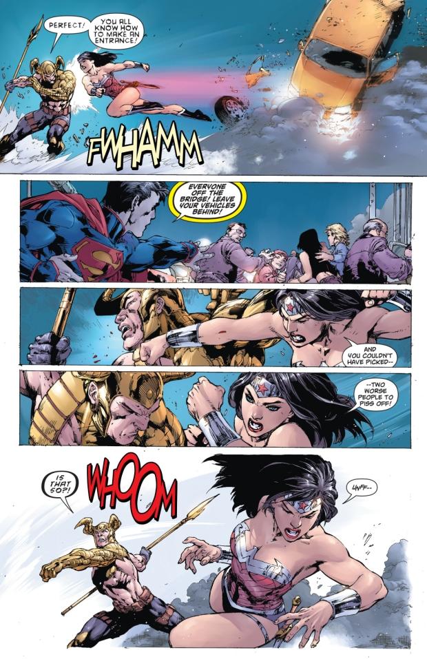 Superman And Wonder Woman VS Magog (New 52)