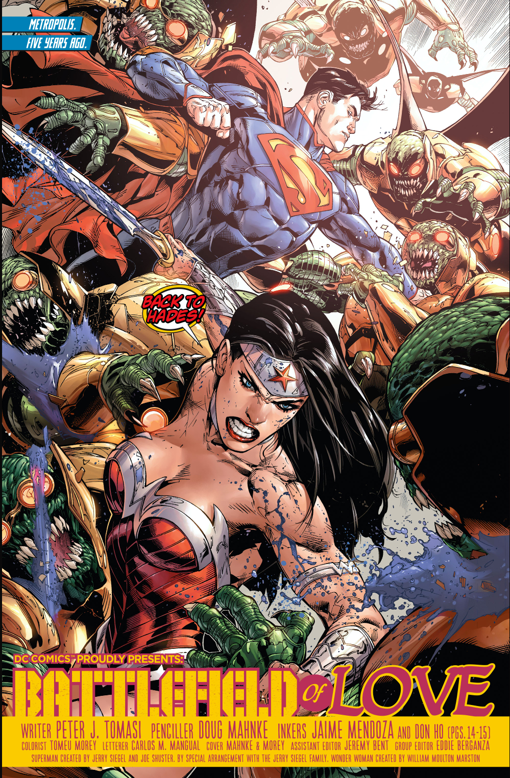 wonder woman and superman�s first meeting new 52