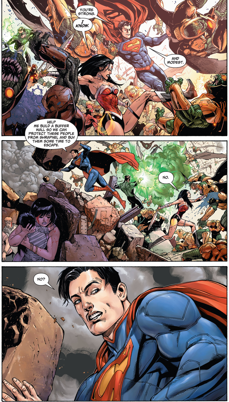 Wonder Woman And Supermans First Meeting New 52 -5827