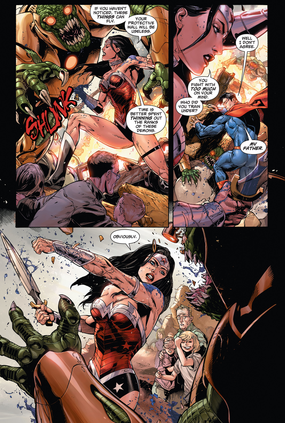 Wonder Woman And Supermans First Meeting New 52 -8060