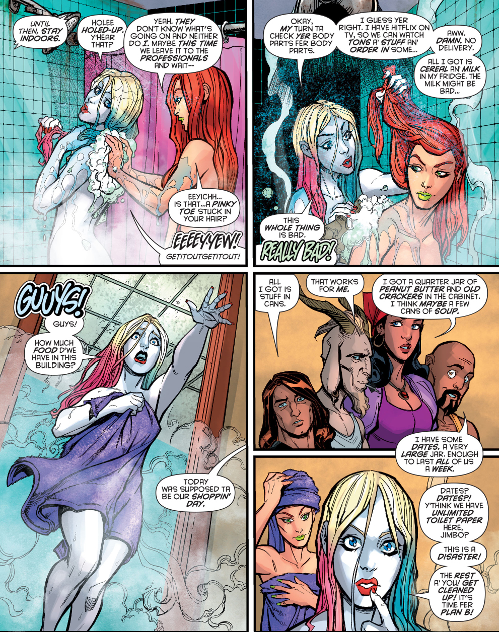 Harley Quinn And Poison Ivy Take A Shower  Comicnewbies-5936
