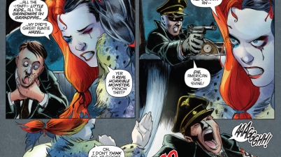 Harley Quinn Beats Up Hitler