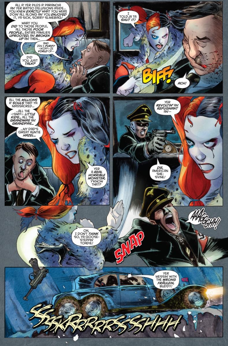 Harley Quinn Beats Up Hitler | Comicnewbies