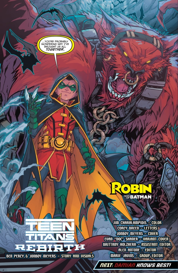 Robin Captures The Teen Titans (Rebirth)