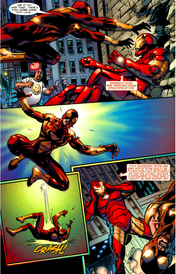 Spider-Man Hacks The Iron Spider Suit