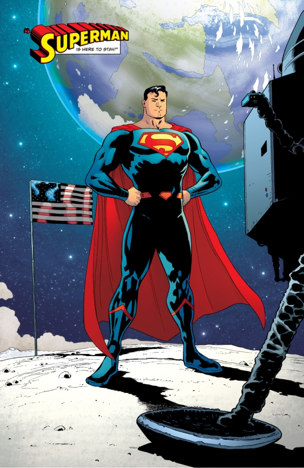 Superman In The Moon