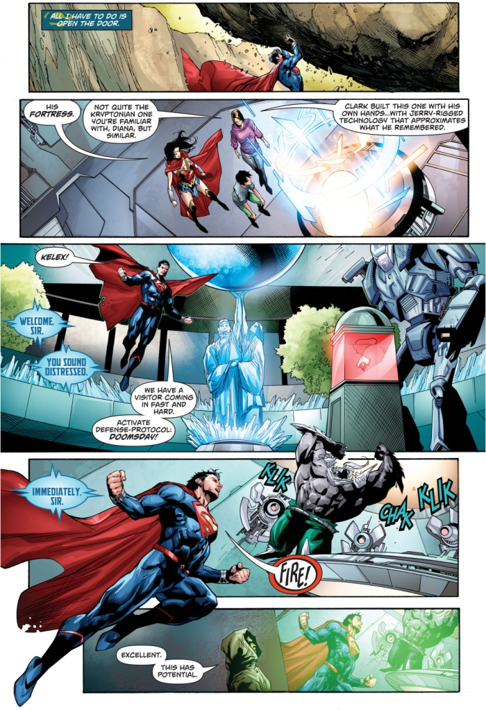 Superman Lures Doomsday Into His Fortress