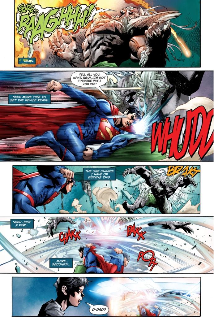 superman sends doomsday to the phantom zone