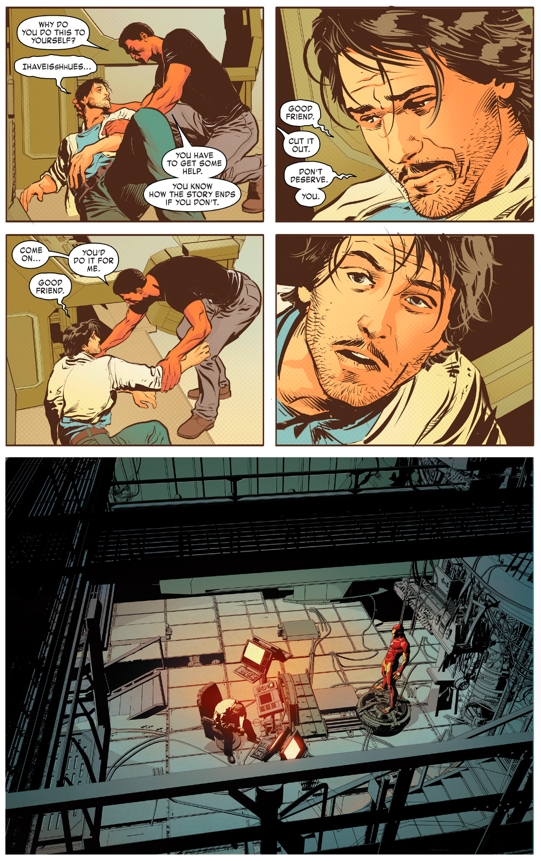 Tony Stark Mourns James Rhodes Death | Comicnewbies