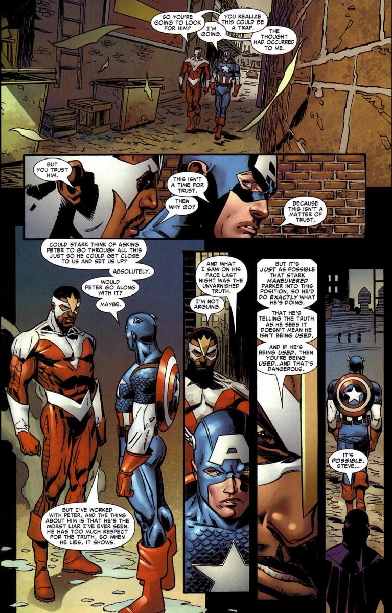 What Captain America Thinks Of Peter Parker Civil War