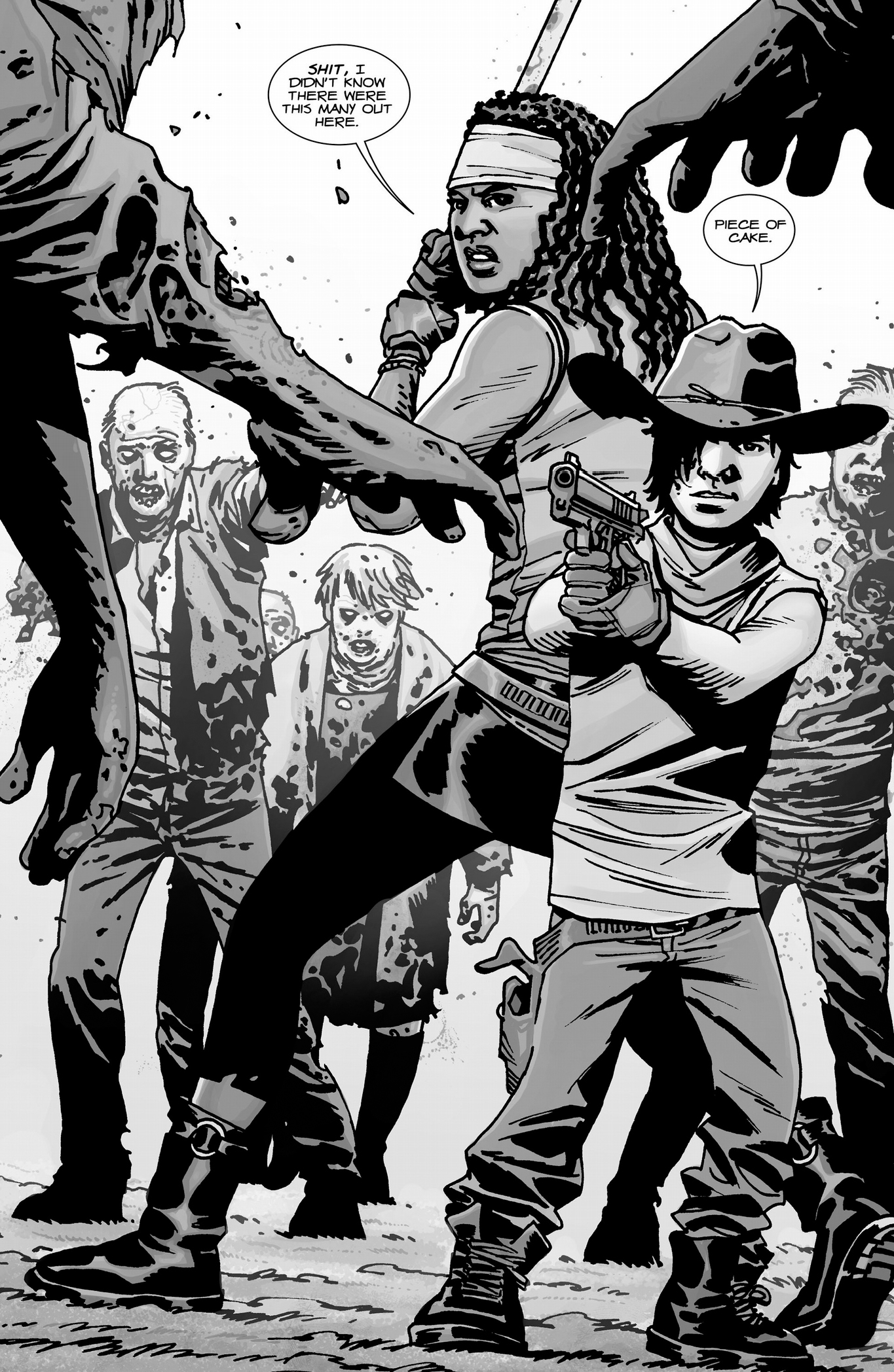 Carl Grimes And Michonne VS Walkers | Comicnewbies X Men Coloring Pages Cyclops