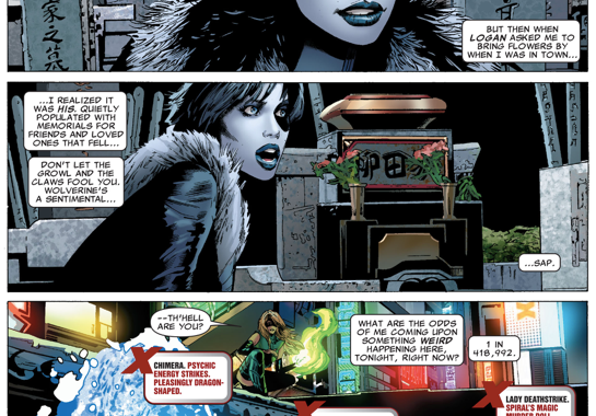 Domino VS Chimera And Lady Deathstrike