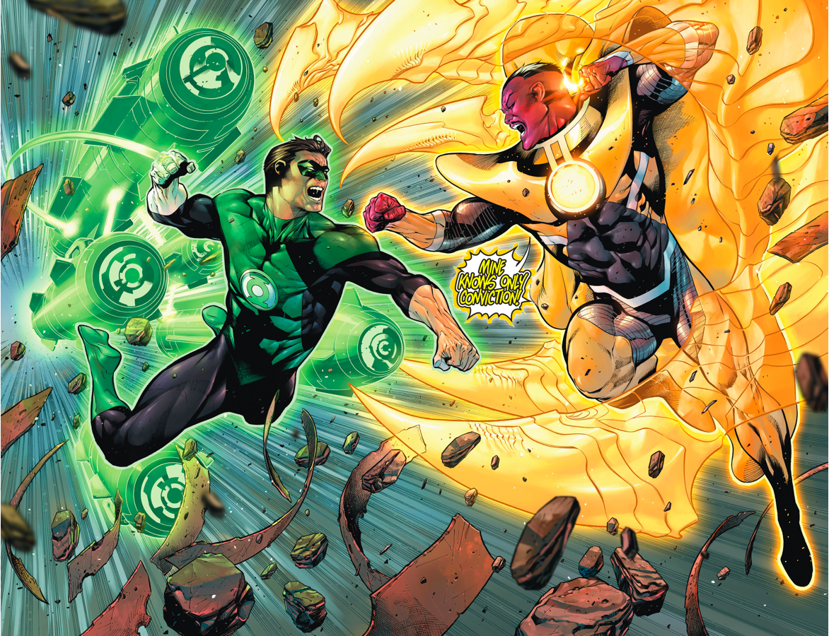 różne style urok kosztów nowe wydanie Green Lantern Hal Jordan VS Sinestro (Rebirth) | Comicnewbies