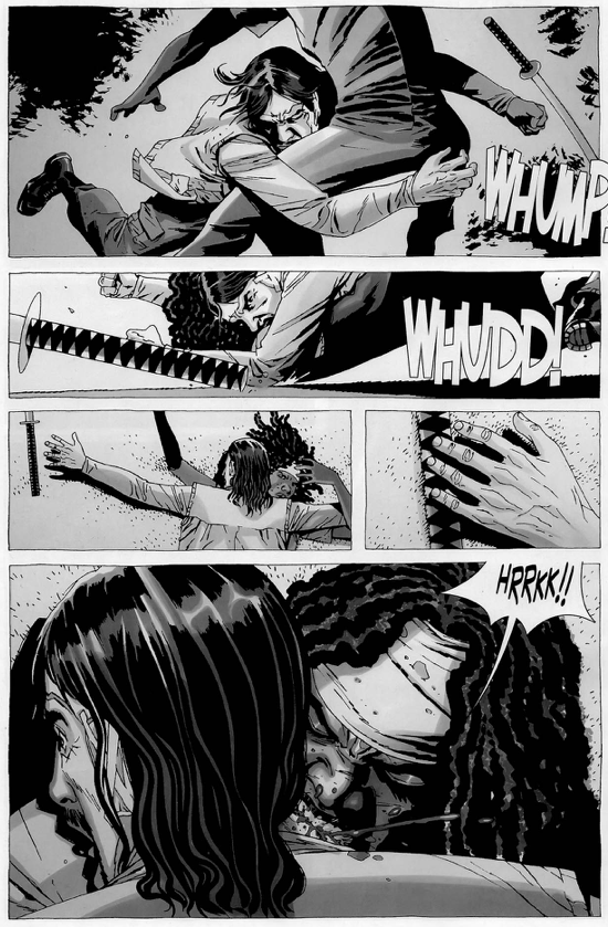 michonne vs the governor the walking dead comicnewbies