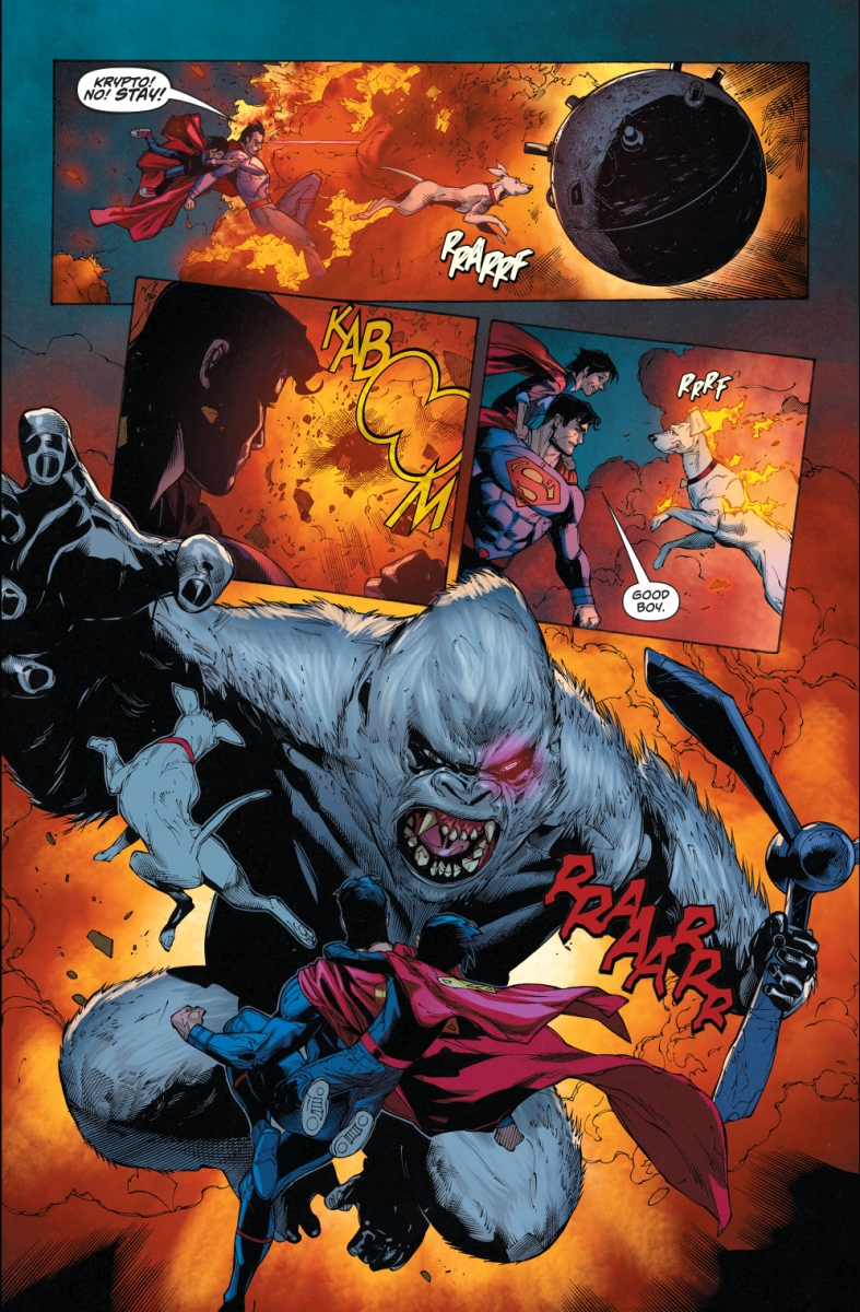 Superman And Captain Storm VS The Monsters Of Dinosaur