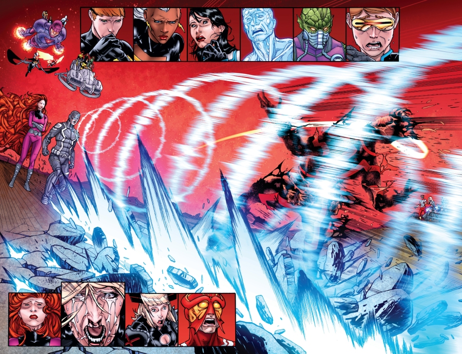 Image result for black bolt kills cyclops