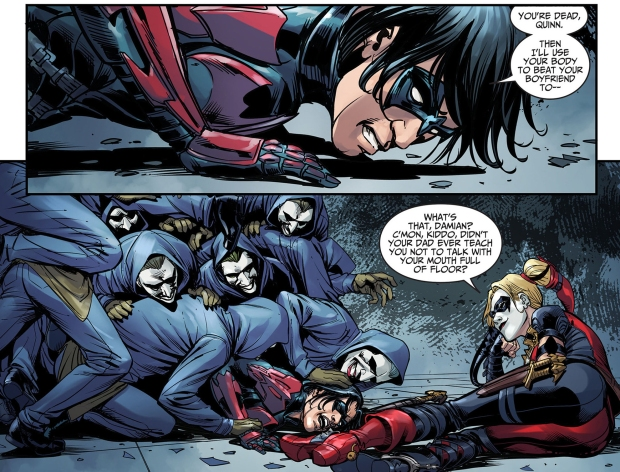 Harley Quinn Taunts Nightwing (Injustice Gods Among Us ... Nightwing Injustice Comic