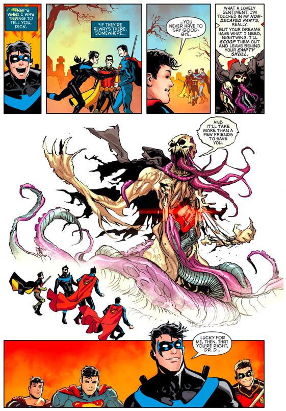 Nightwing And Superman VS Doctor Destiny (Rebirth)