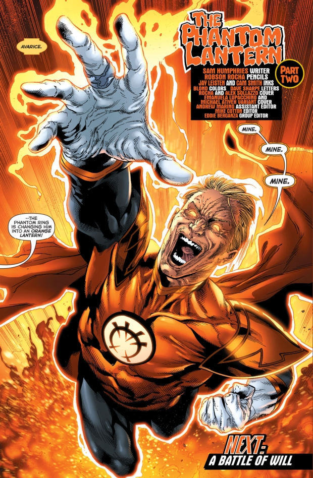 The Phantom Lantern Transforms Into An Orange Lantern ...