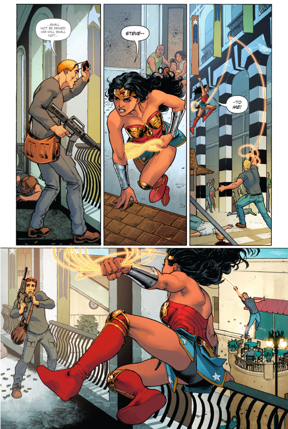 Wonder Woman VS Sear Group Terrorists