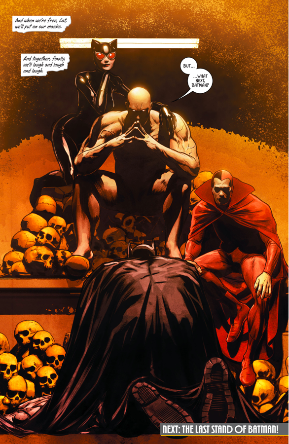 Batman Kneels To Bane