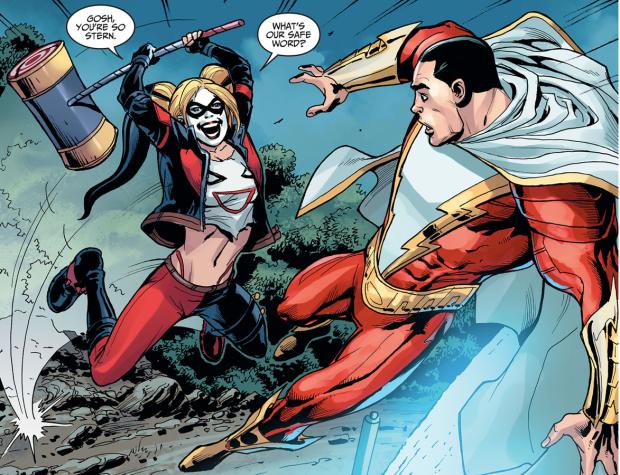 Harley Quinn Ambushes Shazzam (Injustice Gods Among Us)