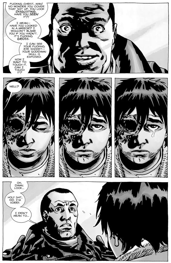 Negan's Punishment To Carl Grimes (The Walking Dead)   Comicnewbies