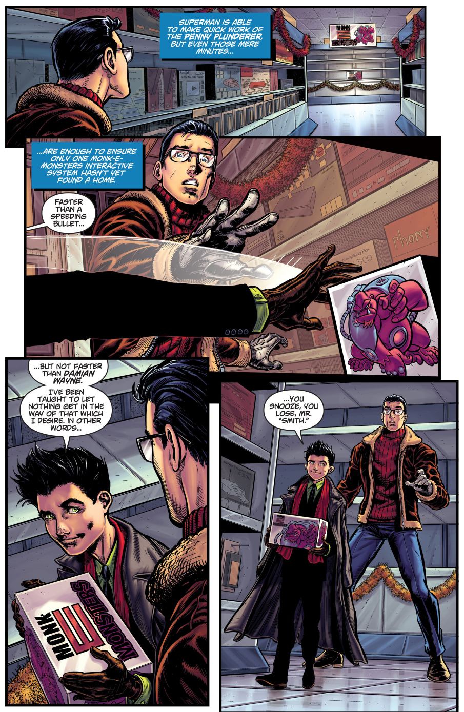 Robin\'s Christmas Gift To Superboy | Comicnewbies