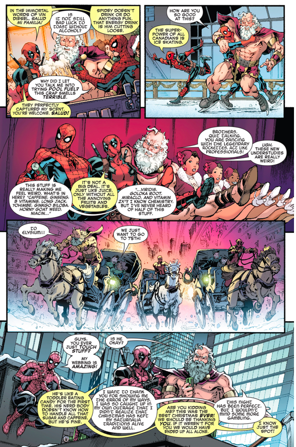 Spider-Man And Deadpool Spends Christmas With Saturn | Comicnewbies