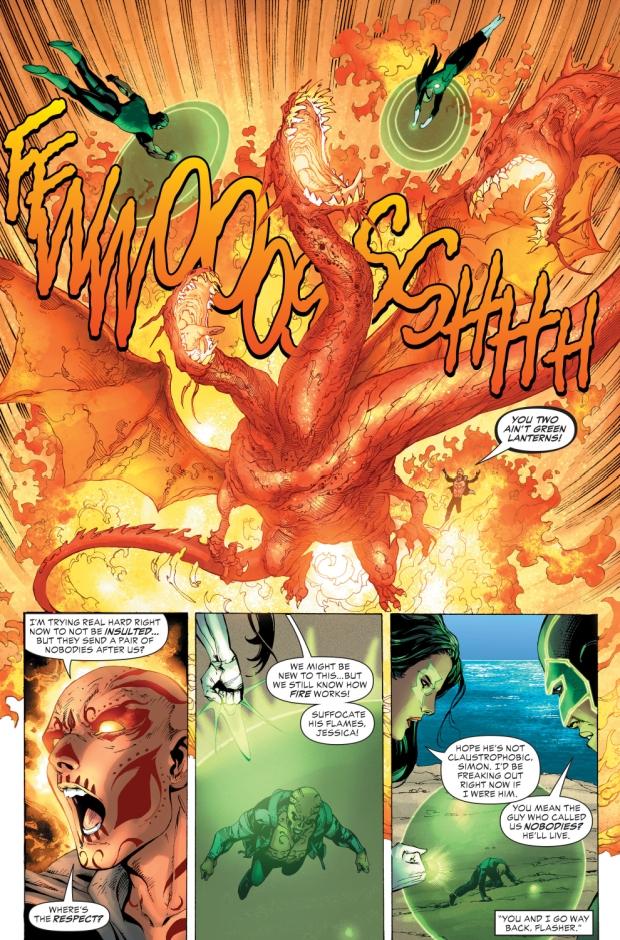 The Green Lanterns VS El Diablo (Justice League VS Suicide Squad)