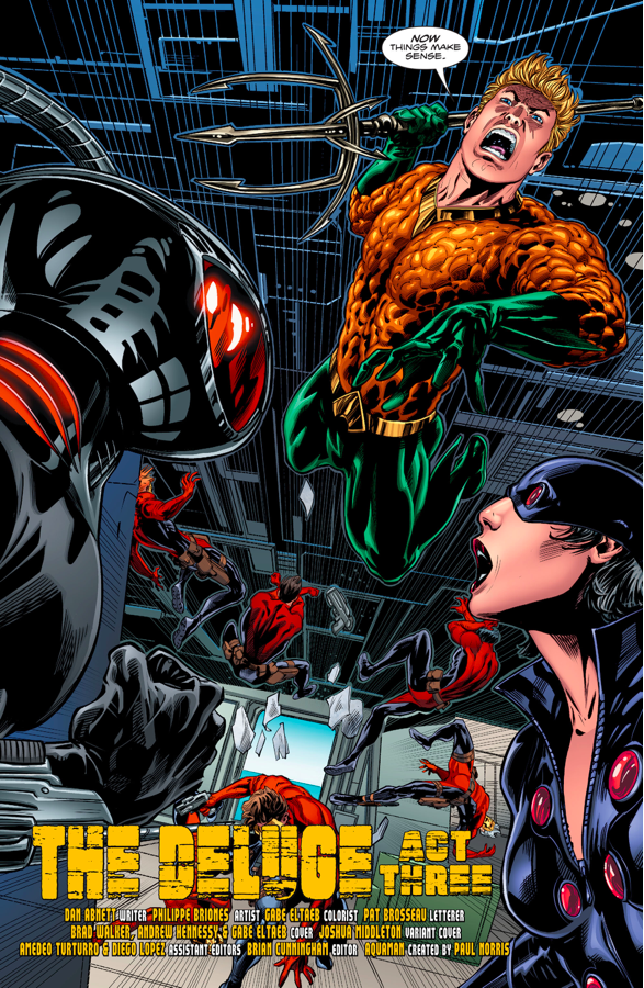 Aquaman Attacks Black Manta And N.E.M.O