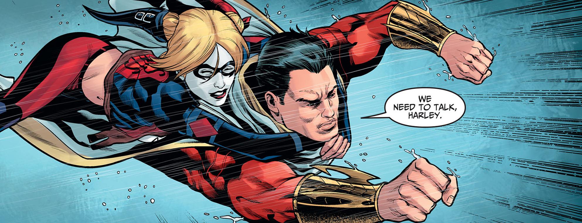 Shazam Likes Harley Quinn Injustice Gods Among Us