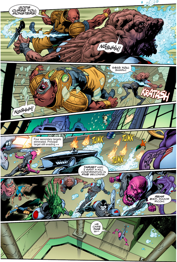 The Aquamarines Tries To Assassinate Aquaman (Rebirth)