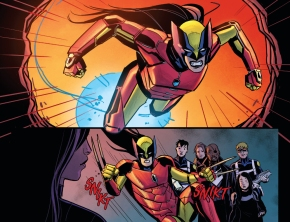 All New Wolverine Using Iron Man's Armor