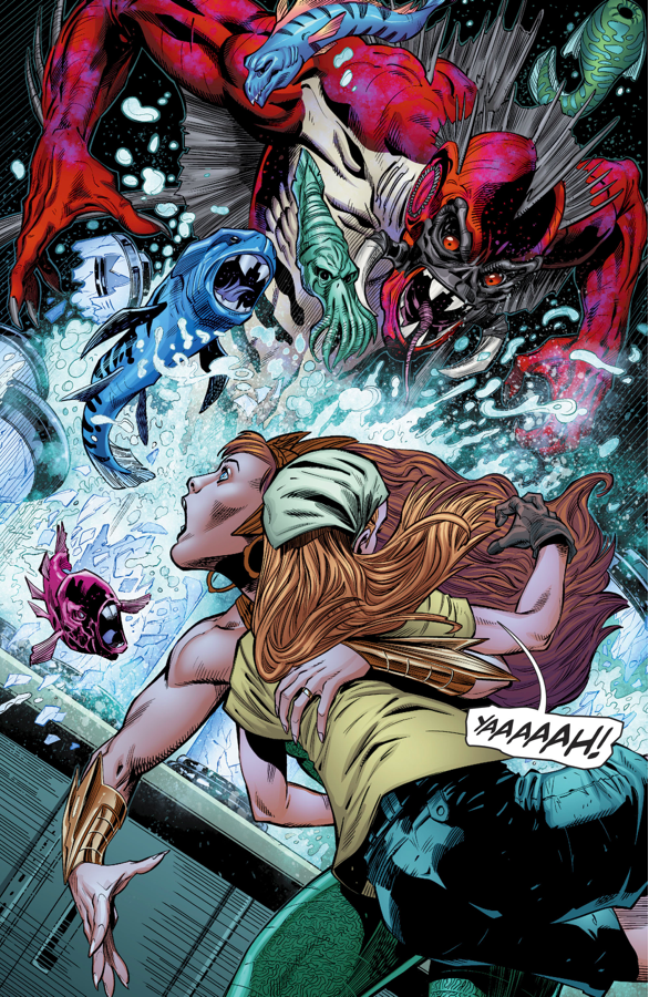 Aquaman And Mera VS Dead Water (Rebirth)