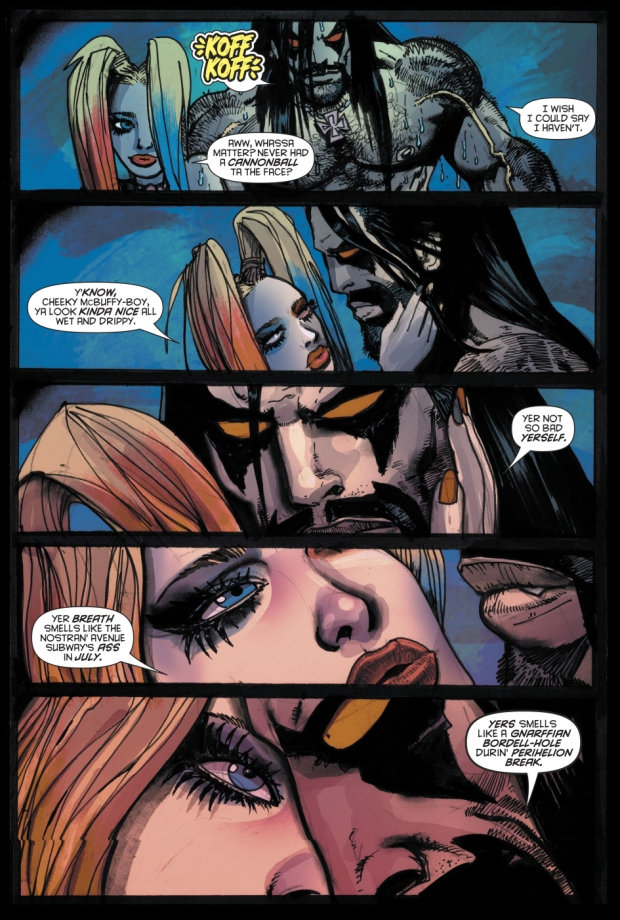 Harley Quinn And Lobo Kiss