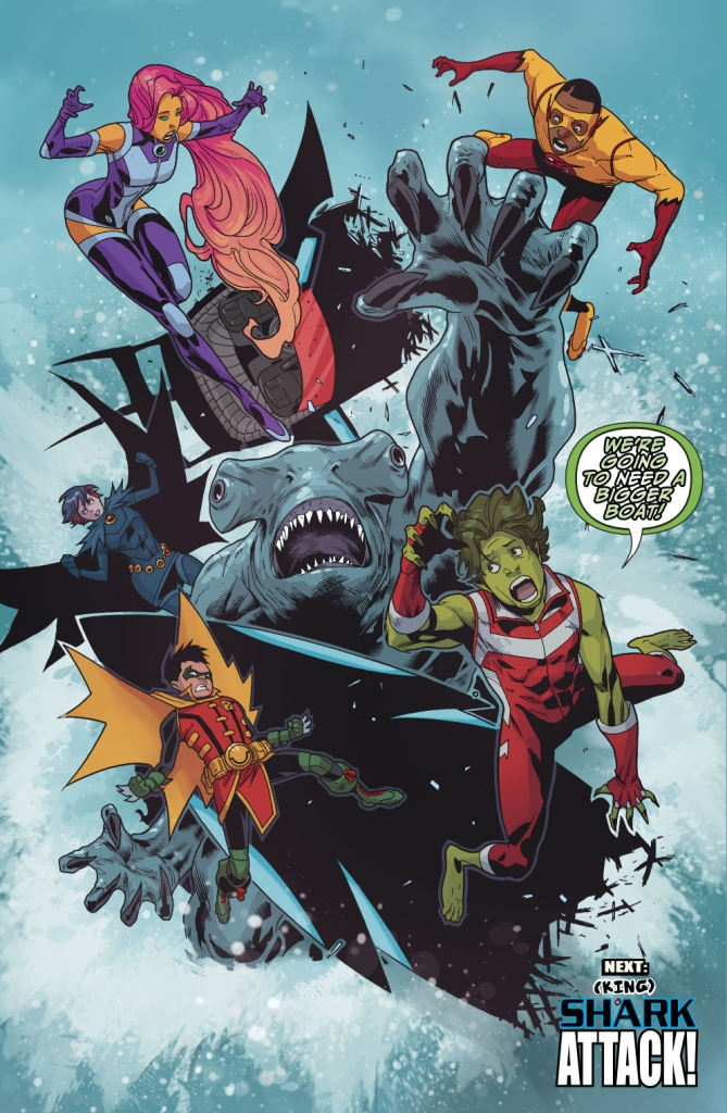 King Shark Attacks The Teen Titans (Rebirth)