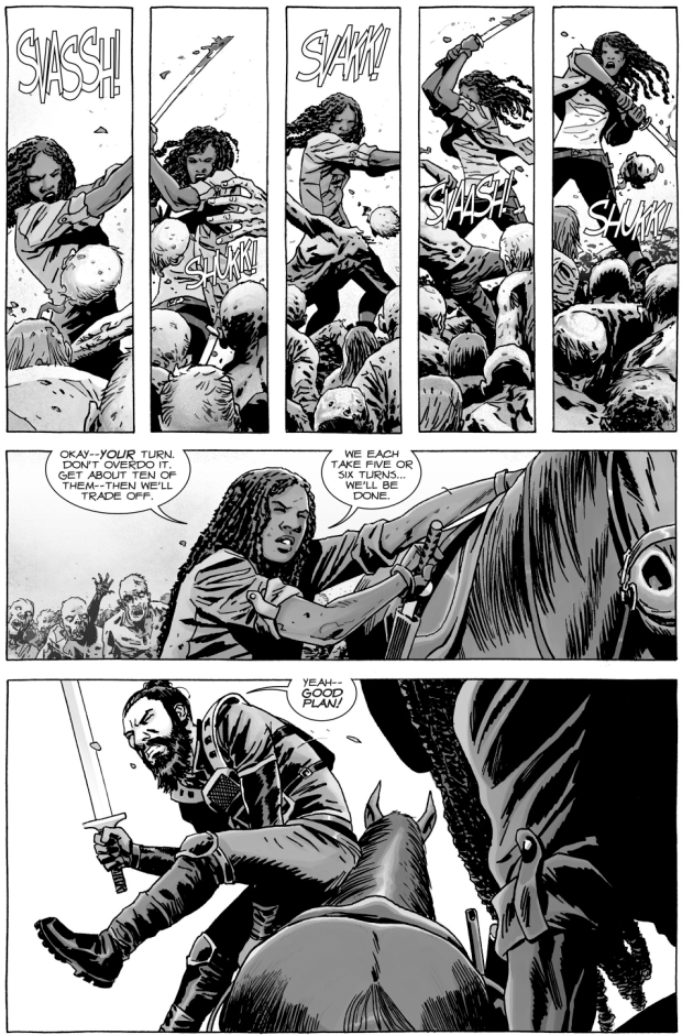 Michonne And Jesus VS The Whisperers Army