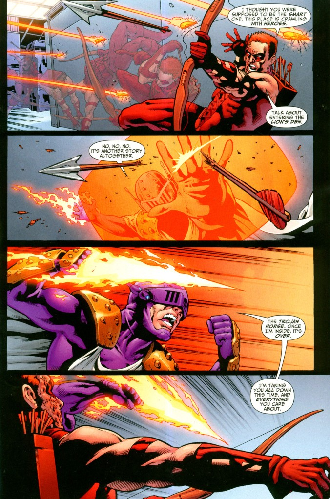 Prometheus Slices Off Red Arrow's Arm