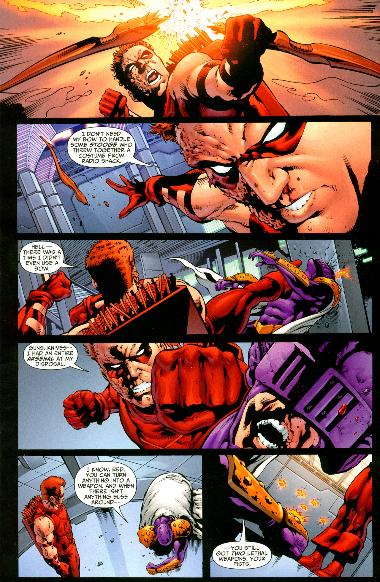 Prometheus Slices Off Red Arrow S Arm Comicnewbies