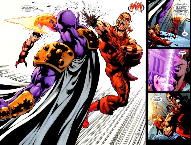 Prometheus Slices Off Red Arrow's Arm